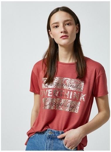 Koton Koton T-Shirt Pembe